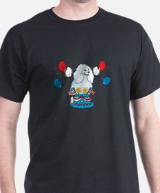 4th of July Poodle T-Shirt