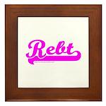 Softball REBT Pink Framed Tile
