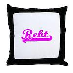 Softball REBT Pink Throw Pillow
