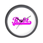 Softball REBT Pink Wall Clock