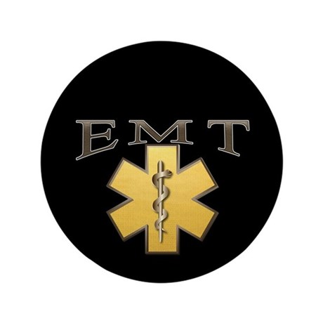 "EMT(Gold) 3.5"" Button (100 pack)"