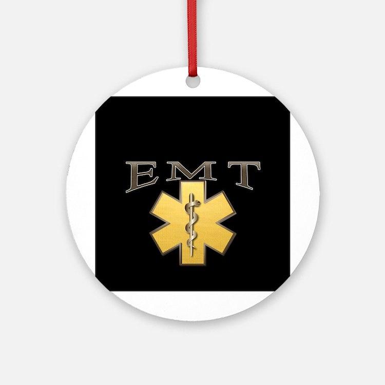 EMT(Gold) Ornament (Round)