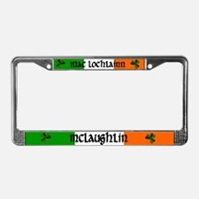 McLaughlin in Irish & English License Plate Frame