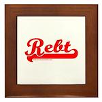 Softball REBT Red Framed Tile