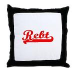 Softball REBT Red Throw Pillow
