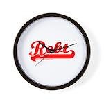 Softball REBT Red Wall Clock