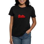 Softball REBT Red Tran Women's Dark T-Shirt