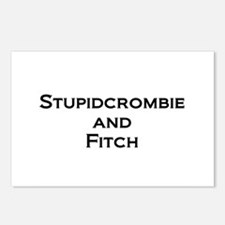 Stupidcrombie & Fitch Postcards (Package of 8)