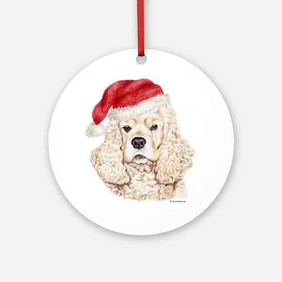 Christmas American Cocker Spaniel Ornament (Round)