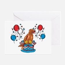 4th of July Irish Setter Greeting Card
