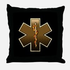 Star of Life(Browns) Throw Pillow