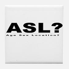 ASL? Tile Coaster