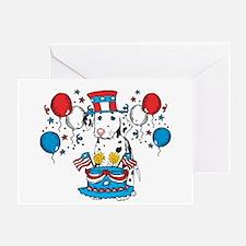 4th of July Dalmatian Greeting Card