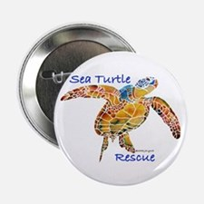 "Sea Turtles 2.25"" Button"