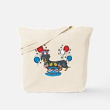 4th of July Dachshund Tote Bag