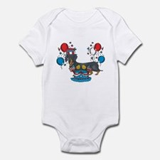 4th of July Dachshund Infant Bodysuit