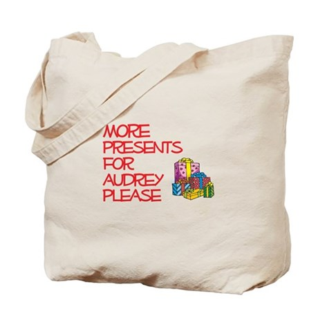 More Presents For Audrey Tote Bag