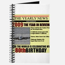 80 birthday Journal