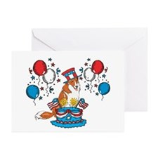 4th of July Collie Greeting Cards (Pk of 10)