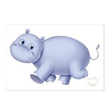 Indigo Hippo Postcards (Package of 8)