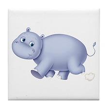 Indigo Hippo Tile Coaster