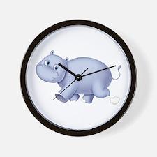 Indigo Hippo Wall Clock
