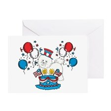 4th of July Bichon Frise Greeting Card
