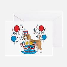 4th of July Beagle Greeting Card