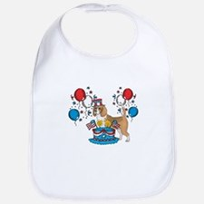 4th of July Beagle Bib
