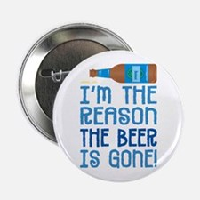 "Beer Gone - 2.25"" Button"