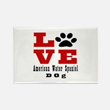 Love American Water Spaniel Dog D Rectangle Magnet