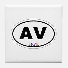 Avalon New Jersey Tile Coaster