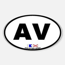 Avalon New Jersey Oval Decal