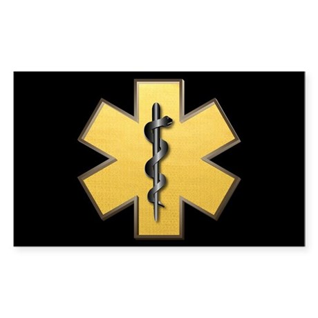 Star of Life(Gold) Rectangle Sticker