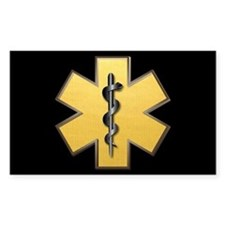 Star of Life(Gold) Rectangle Stickers