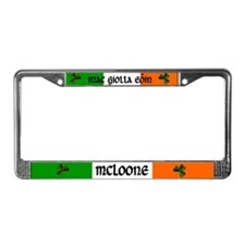 McLoone in Irish & English License Plate Frame