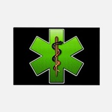 Star of Life(Green) Rectangle Magnet
