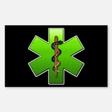 Star of Life(Green) Rectangle Decal