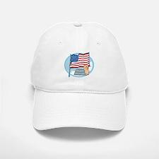 Patriotic Yorkie Baseball Baseball Cap