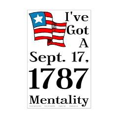 September 17, 1787 Mentality 11x17 Poster