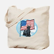 Patriotic Scottie Tote Bag