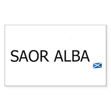 SAOR ALBA - FREE SCOTLAND GAELIC Sticker (Rectangl