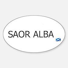 SAOR ALBA - FREE SCOTLAND GAELIC Oval Decal