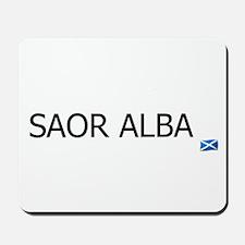 SAOR ALBA - FREE SCOTLAND GAELIC Mousepad