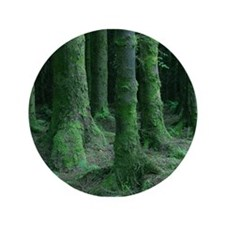 "Green Trees 3.5"" Button (100 pack)"