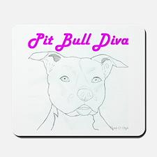 Pit Bull Diva  Mousepad