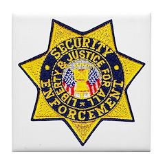 Security Enforcement Tile Coaster