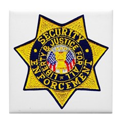 Security Enforcement Tile Coaster