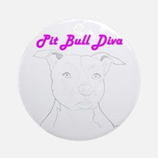 Pit Bull Diva  Keepsake (Round)