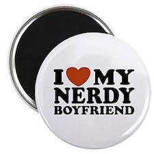 I Love My Nerdy Boyfriend Magnet